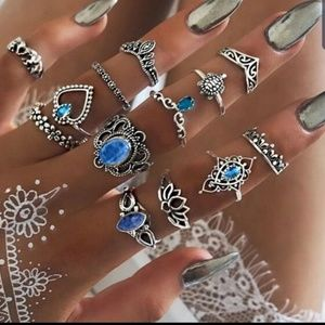 Fashion Jewelry Jewelry - 13 Piece Vintage Look Ring Set